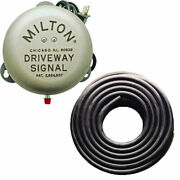 Milton 805 Service Gas Station Driveway Signal Bell And 25and039 3/8 Signal Bell Hose