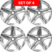 Four 20 Replacement Alloy Silver Wheel Rim Fits Jeep Grand Cherokee 2008-2010