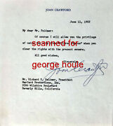 Joan Crawford - Letter - Signed - Authorizing Use Of Clip - Mildred Pierce - Aa
