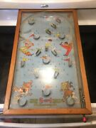Vintage 1940and039s Toy Poosh M Up Big 5 Pinball Table 5-in-1 Game W/ Pinballs