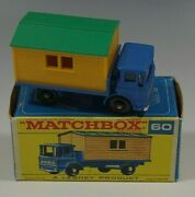 Matchbox Truck With Site Office 60 Lesney England Diecast With Box Catalog 2