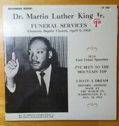 Nmdr. Martin Luther King, Jr. Funeral Services Lpapril 9 1968i Have A Dream