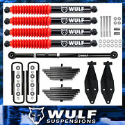 3 Front Lift Kit With Track Bar + Wulf Shocks For 2000-2005 Ford Excursion 4x4