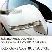 Oem Parts Right Led+heated+auto Folding Side Mirror For Chevy 2006-2014 Captiva