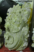Chinese 100 Lantian Jade Stone Carving Chinese Cabbage Fengshui Ornament Statue