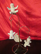 5 Dept 56 Snowbabies Christmas Ornaments Star Clip On Sleeping On Moon Icicle