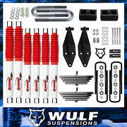 2.8 Front 2 Rear Lift Kit W/ Dual Rancho Shock Kit For 1999-2004 Ford F250 4x4