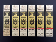 1968 New Orleans Saints Tickets Game 2 At Tulane Stadium - Eastern Conference