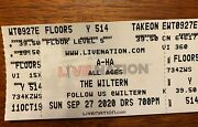 2 Tickets A-ha Concert The Wiltern Los Angeles Saturday 4/09/22 7pm Sold Out