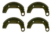 Sba328100031 Pack Of 4 Brake Shoes Fits Ford Nh Compact Tractor Models 1000 1600