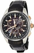 Astron Watch Dual Time Solar Gps Satellite Radio Correction Sapphire Sbxb061