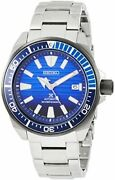 Prospex Watch Save The Ocean Model Mechanical Divers Blue Dial Board Sbdy 019