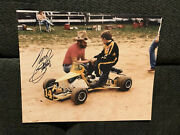 Tony Stewart Signed 8 X 10 Photo Autographed Nascar Young With Dad