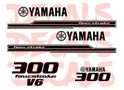 Yamaha 300 Four Stroke Die Cut Decals Outboard Engine Graphic Motor 300hpandnbsp