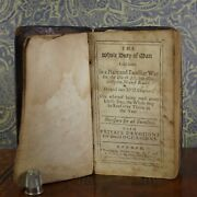 Rare Early 18th Century Book 1709 Hms Mary Galley Inscription Richard Allestree