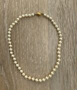 Vintage Costume Jewelry, Marvella Faux Pearl Choker Strand Necklace Nk280