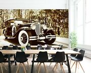 3d Antique Black T317 Transport Wallpaper Mural Self-adhesive Removable Sunday