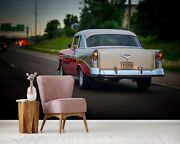 3d Antique Pink T001 Transport Wallpaper Mural Self-adhesive Removable Sunday