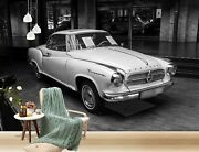 3d Antique White T015 Transport Wallpaper Mural Self-adhesive Removable Sunday