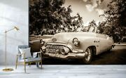 3d Antique Open Car T71 Transport Wallpaper Mural Self-adhesive Removable Sunday