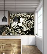 3d Mechanical Parts T18 Transport Wallpaper Mural Self-adhesive Removable Sunday