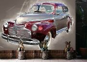 3d Chevrolet Vintage T074 Transport Wallpaper Mural Self-adhesive Removable Su