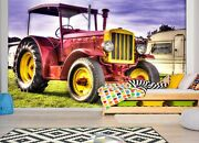 3d Pink Tractor T77 Transport Wallpaper Mural Self-adhesive Removable Sunday