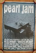 Pearl Jam Ames Bros 1993 West Coast Fall Tour Poster Eddie Vedder. Great Shape
