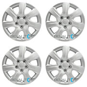 4 New 16 Inch Silver Hubcaps Wheel Covers Set For 2010-2011 Toyota Camry