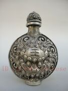 Very Good Collected Ancient China Silver Handmade Beautiful Lion Snuff Bottles