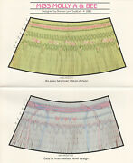 Smocking Designs Plates Miss Molly A And Bee, Carol, Buttons 'n Bows Choose One