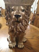 Adorable Lion Plant Stand... Ashtray Stand...or Table Stand