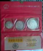 Jordan 1969 Historical Sites Mint Set Of 3 Silver Coinswith Pack Coa