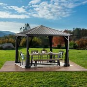 Codie 10and039 X 10and039 Outdoor Modern Aluminum Hardtop Gazebo