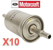 10 In-line Fuel Gas Filters Motorcraft Oem Fg1083 For Ford Mercury Lincoln