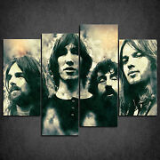 Pink Floyd Music Band Grunge Cascade Canvas Print Wall Art Picture Ready To Hang