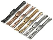 20 21mm Oyster For Rolex Watch Metal Steel Bracelet Strap Band Submariner Clasp