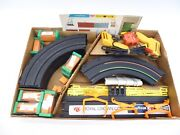 Lot Of 24 - Afx Aurora Slot Car Tracks And Controllers With Power Supply