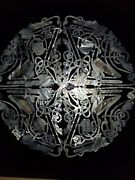 Celtic Knotwork Pair Of Large Mother Of Pearl Signed Sss
