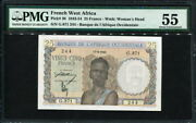 French West Africa 1943-1954 25 Francs P38 Pmg 55 Aunc