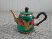 Vintage Russian Hd Painted Daisy Decorated Chrome Electric Samovar Water Heater