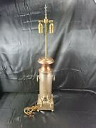 Tall 33 Mcm County Chic Copper Table Lamp Antique Milk Can 2 Pour Spout 2 Bulbs