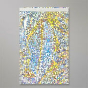 10000 Metallic Silver Holographic Foil Mailing Bags 8.5 X 8.5