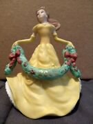 Disney Belle From Beauty And The Beast Dated 2008 Porcelain Christmas Ornament