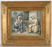 Hippolyte Bellangandeacute Veteran And Children Watercolor From Royal Property 1828