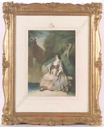 August Vischer 1821-1898 Falling Asleep Watercolor From Royal Property 1855