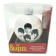 Nib The Beatles Handcrafted Glass Christmas Ornament Discontinued Rare