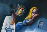 Charles Blackman Dreaming Alice Signed Limited Edition Print 66cm X 97cm