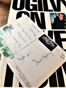Ogilvy On Advertising By David Ogilvy W Signed Postcard Rare - One Of A Kind