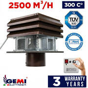 Gemi Basic Chimney Exhaust Fan For Fireplace For Round Flue 20 Cm 110 Volts